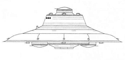 Haunebu-IV Skizze - unbekannter Künstler