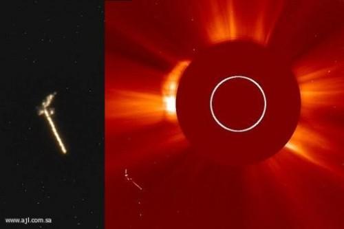Hubble - UFO neben der Sonne